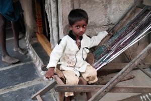 Kind aus einem Slum